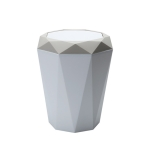 Living Room Desktop Mini Trash Can Diamond Shake Lid Trash Can, Size:M 24.6×21.6cm(Apricot)