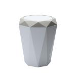 Living Room Desktop Mini Trash Can Diamond Shake Lid Trash Can, Size:L 28.6x25cm(Apricot)
