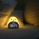 Multifunctional Time Bird Silent Bedside Bedroom Electronic Alarm Clock