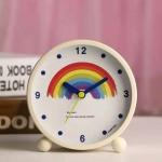 Creative Silent Metal Digital Student Bedside Alarm Clock(Rainbow)