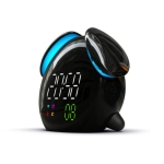 Creative Cartoon Dog Time Voice Broadcast Intelligent Induction Multifunctional Alarm Clock, Style:Weather Forecast(Black)