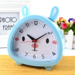 5 PCS Creative Rabbit Shape Student Child Bedside Alarm Clock(Blue)