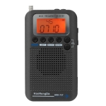HRD-737 Portable Aircraft Band Radio Wide Frequency Receiver (Black)