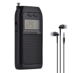 K-605 Portable FM / AM / SW Full Band Stereo Radio, Support TF Card (Black)