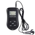 HRD-107 DSP Digital Display Portable Stereo FM Radio with Headset(Black)