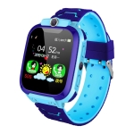 Q12 1.44 inch Color Screen Smartwatch for Children, Not Waterproof, Support LBS Positioning / Two-way Dialing / SOS / Voice Monitoring / Setracker APP (Blue)