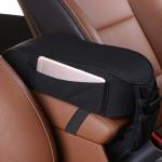 Universal Car Central Memory Foam Armrest Box Cushion Car Armrest Box Mat with Storage Bag (Black)