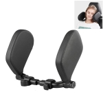 Car Seat Headrest Car Neck Pillow Sleep Side Headrest for Children and Adults (Black)