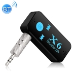X6 Car Bluetooth Handsfree Audio Transmitter Receiver Adapter Support TF Card (Black)