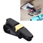 Vehicle Mounted Glasses Clip Car Eyeglass Bill Holder, Blister Package (Gold)