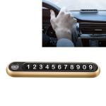 Hidden Number Metal Car Temporary Parking Number Plate Parking Card (Gold)
