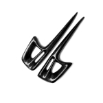 2 PCS Carbon Fiber Car Lamp Eyebrow Decorative Sticker for Mitsubishi Lancer EVOX