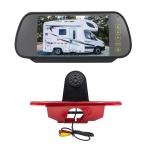 PZ465 Car Waterproof Brake Light View Camera + 7 inch Rearview Monitor for Citroen / Peugeot / Toyota