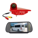 PZ462 Car Waterproof Brake Light View Camera + 7 inch Rearview Monitor for Renault / Nissan / Opel