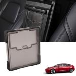 Hidden Transparent Storage Box Central Control Armrest Box Cover for Tesla Model 3