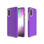 For Galaxy A51 Anti-slip Armor TPU + PC Protective Case(Purple)