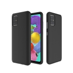 For Galaxy A71 Anti-slip Armor TPU + PC Protective Case(Black)