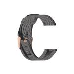 For Huawei B5 Nylon Strap(Black  white Stripes)