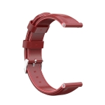 For Huawei B5 Oil wax Leather Strap(Big Red)