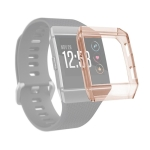 For Fitbit Ionic Full Coverage TPU Watch Case(Transparent Orange)