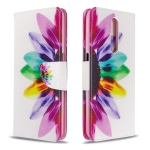 For Xiaomi Redmi K30 Colored Drawing Pattern Horizontal Flip Leather Case with Holder & Card Slots & Wallet(Sun Flower)