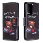 For Huawei P40 Pro Colored Drawing Pattern Horizontal Flip Leather Case with Holder & Card Slots & Wallet(Bear)