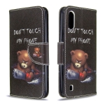 For Galaxy A01 Colored Drawing Pattern Horizontal Flip Leather Case with Holder & Card Slots & Wallet(Bear)
