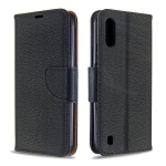 For Xiaomi Redmi K30 Litchi Texture Pure Color Horizontal Flip PU Leather Case with Holder & Card Slots & Wallet & Lanyard(Black)