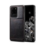 For Galaxy S20 Ultra Dibase TPU + PC + PU Crazy Horse Texture Protective Case with Holder & Card Slots(Black)