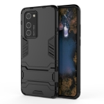 For Huawei P40 Pro PC + TPU Shockproof Protective Case with Holder(Black)