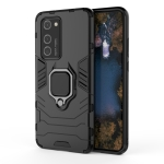For Huawei P40 Pro PC + TPU Shockproof Protective Case with Magnetic Ring Holder(Black)