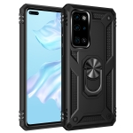 For Huawei P40 Shockproof TPU + PC Protective Case with 360 Degree Rotating Holder(Black)