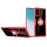 For Galaxy S20 Ultra Scratchproof TPU + Acrylic Ring Bracket Protective Case(Red)