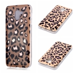 For Galaxy A6 (2018) Plating Marble Pattern Soft TPU Protective Case(Leopard)