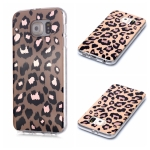 For Galaxy S6 edge Plating Marble Pattern Soft TPU Protective Case(Leopard)