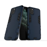 For iPhone 11 Pro Steel Bear Simple Style Shockproof PC + TPU Case(Blue)