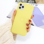 For iPhone 11 Pro Max 1.5mm Liquid Emulsion Translucent TPU case(Yellow)
