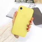 For iPhone XR 1.5mm Liquid Emulsion Translucent TPU case(Yellow)