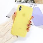 For iPhone XS / X 1.5mm Liquid Emulsion Translucent TPU case(Yellow)
