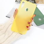 For Galaxy A20s 1.5mm Liquid Emulsion Translucent TPU case(Yellow)