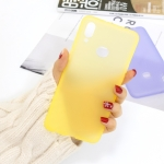 For Galaxy A10s 1.5mm Liquid Emulsion Translucent TPU case(Yellow)