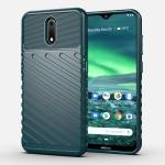 For Nokia 2.3 Thunderbolt Shockproof TPU Soft Case(Dark Green)