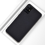 For Galaxy A71 Shockproof Cloth Texture PC + TPU Protective Case(Black)