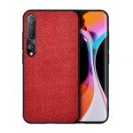 For Xiaomi Mi 10 Shockproof Cloth Texture PC + TPU Protective Case(Red)