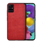 For Galaxy A71 Shockproof Cloth Texture PC + TPU Protective Case(Red)