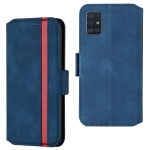 For Galaxy A71 Retro Frosted Oil Side Horizontal Flip Case with Holder & Card Slots(Blue)