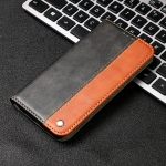 For Xiaomi Redmi Note 8 Pro Business Solid Color Stitching Horizontal Flip PU Leather Case with Holder & Card Slot(Brown)