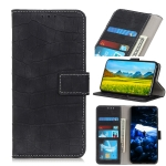 For Galaxy A41 Crocodile Texture Horizontal Flip PU Leather Case with Holder & Card Slots & Wallet(Black)