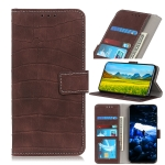 For Galaxy A70e Crocodile Texture Horizontal Flip PU Leather Case with Holder & Card Slots & Wallet(Brown)