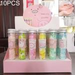 10 PCS Disposable Portable Travel Tube Shape Boxed Confetti Soap Mini Soap Plate(Pig Baby Series)